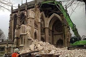 chiesa abbattuta