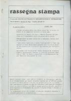 Rassegna N. 004 – Anno III, Giugno 1984