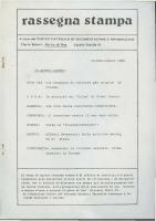 Rassegna N. 006 – Anno V, Giugno-Luglio 1986