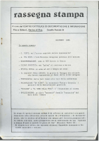 Rassegna N. 013 – Anno V, Dicembre 1986