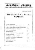Rassegna N. 031 – Numero Speciale – Aprile 1997