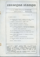 Rassegna N. 038 – Anno VII, Ottobre-Novembre 1988