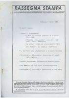 Rassegna N. 041 – Anno VIII, Febbraio-Marzo 1989