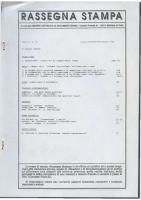 Rassegna N. 063 – Anno XI, Luglio-Settembre 1992