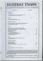 Rassegna N. 073 – Anno XIII, Marzo-Aprile 1994