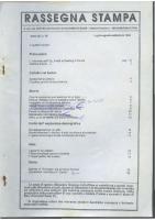 Rassegna N. 075 – Anno XIII, Luglio-Settembre 1994