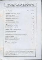 Rassegna N. 079 – Anno XIV, Marzo-Aprile 1995