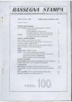 Rassegna N. 100 – Anno XVII, Luglio-Settembre 1998