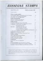Rassegna N. 101 – Anno XVII, Ottobre-Novembre 1998