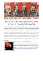 A CENTO ANNI DALLA RIVOLUZIONE RUSSA
