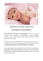 ABORTO IL PIU GRANDE ABOMINIO MODERNO