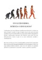 EVOLUZIONISMO SCIENZA O IDEOLOGIA