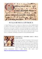 SULLA MUSICA LITURGICA